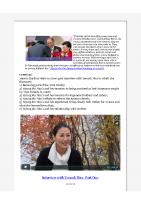 2015-10-28 Yeonah Nim Video Interview