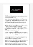 2018-06-20 Responses to A&E Documentary