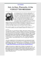 2021-03-09 Hak Ja Han Pharaohs the FORGOTTEN MESSIAH